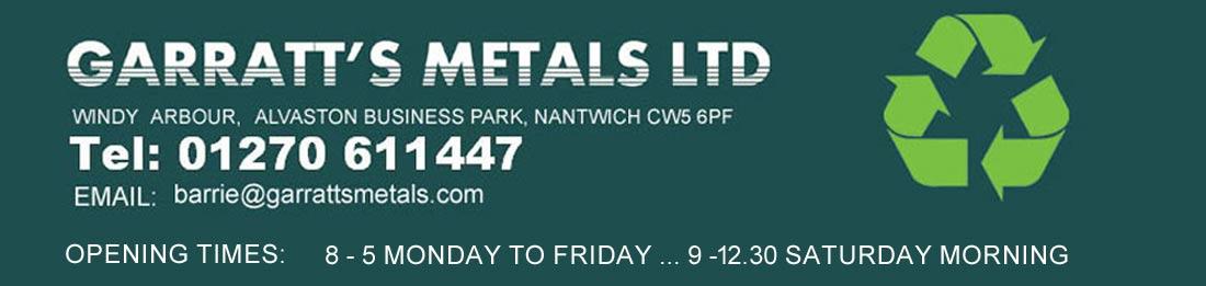 Garratts Metals NANTWICH CW5 6PF